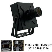 3MP Sony IMX307 + 3516EV200 IP Mini metalowe pudełko aparat M12 obiektyw 2304*1296 H.265 Onvif wszystkie kolory CMS XMEYE P2P Audio 48V PoE RTSP