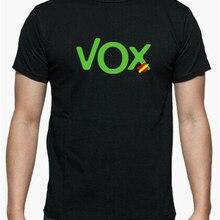 Футболка-майка-рулет логотип Vox Испания Новейшая модная футболка