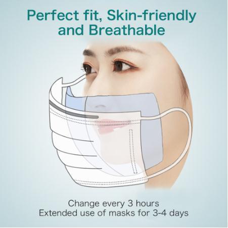 100pcs/Bag Dustproof Disposable Non-woven Face Month Mask Gasket Respirator Fliter Mask For Masks