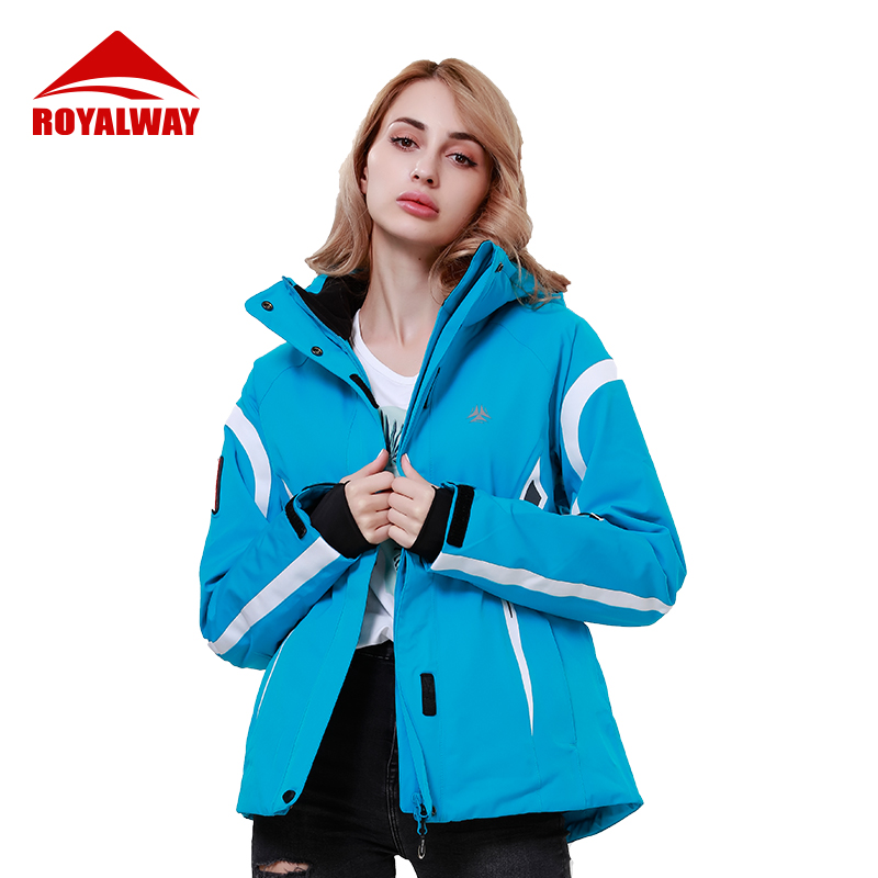 ROYALWAY Ski Snowboard Jackets Women Winter Outdoor Sports Warm Windproof Waterproof Skiing Classic Ski Suit RFSL4517G