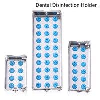 Caja de desinfección Dental de 8/12/30 agujeros, estuche esterilizador de Autoclave, soporte de limas para Burs, instrumento de dentista