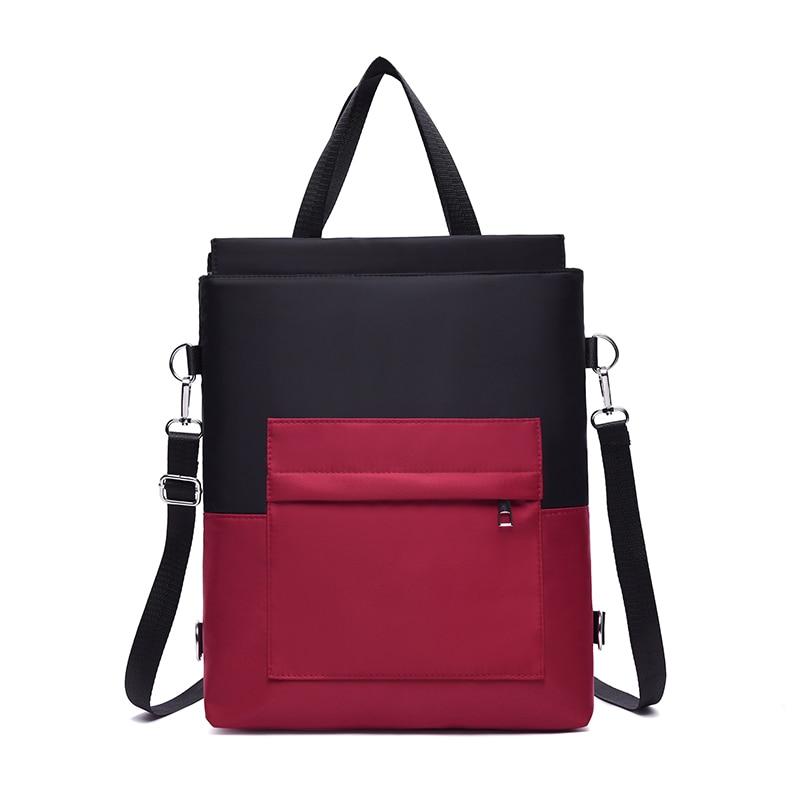 Women Lightweight Multifunction Backpack Purse High-capacity Knapsack Women Backpack Female Hit Color Teenager Shoulder Bag
