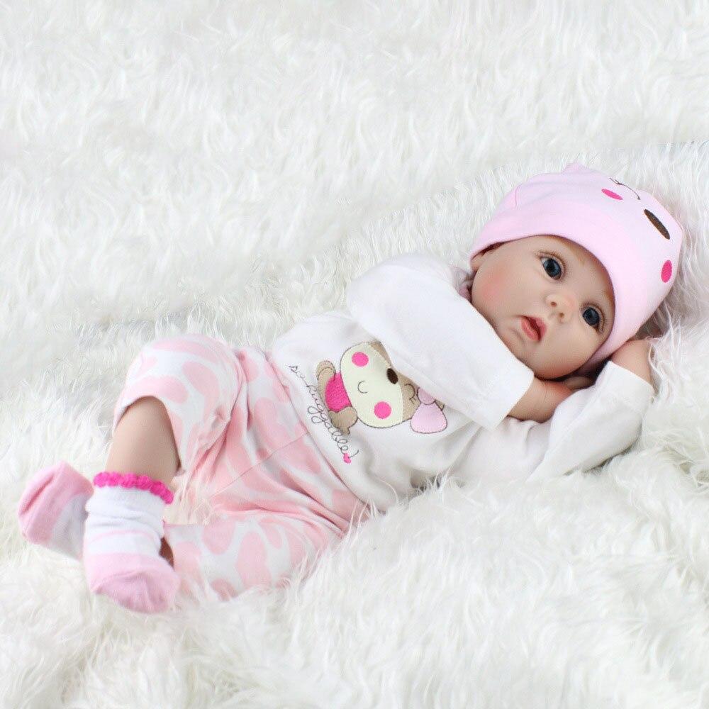 55cm bonito do bebê crianças renascer boneca macio lifelike recém nascido boneca meninas brinquedo para a criança de dormir educação precoce boneca menina