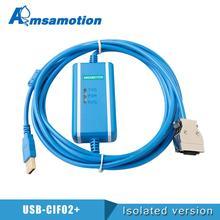 USB CIF02 + C תכנות כבל מתאים Omron PL תקשורת CPM1A/2A/CQM1 נתונים להוריד קו