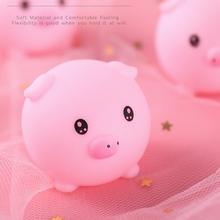 L38E Kawaii małe świnki prezenty urodzinowe świąteczne święto dziękczynienia noworoczne prezenty dla siostrzeńców i siostrzenic koledzy z klasy podstawowej tanie tanio OOTDTY CN (pochodzenie) Tv movie postaci Soft Rubber 4-6y 7-12y 12 + y Miękkie i pluszowe Animals 1 Piece Piggy Squeeze Toy