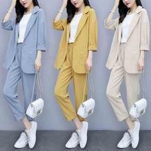 Women Spring autumn Casual 2 piece Suits sets suit
