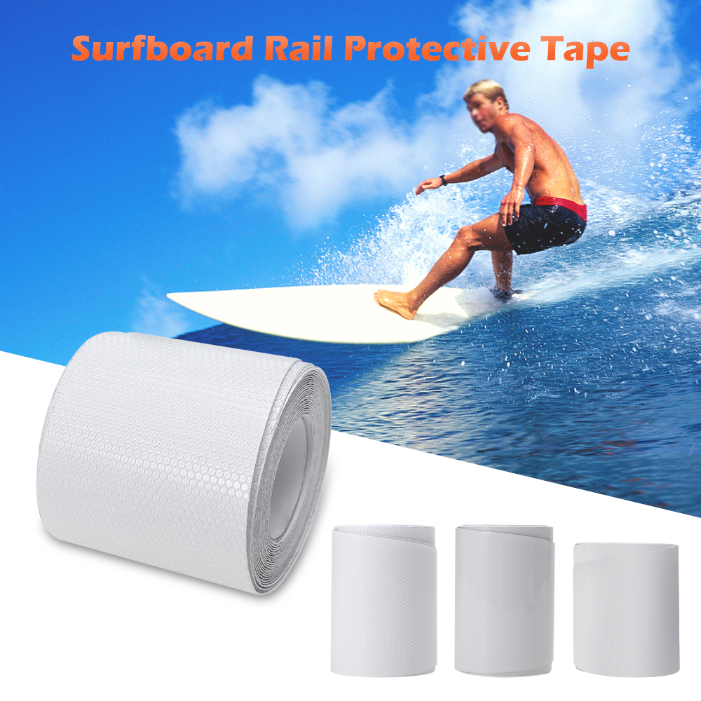83'' / 75'' White SUP Board Protection Tape Surfboard Rail Protective Film Surf Leash Paddle Board Accessories protection edge