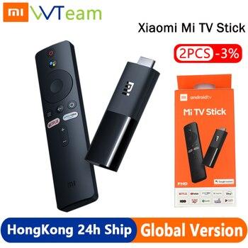 цена на Xiaomi Mi TV Stick Global Version Android TV 2K HDR Quad Core HDMI 1GB RAM 8GB ROM Bluetooth Wifi Netflix Google Assistant