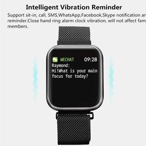 Image 3 - P80 سوار ساعة ذكية مع ضغط الدم رصد معدل ضربات القلب عداد الخطى اللياقة البدنية المقتفي الفرقة Smartwatch ل أندرويد هواوي IOS