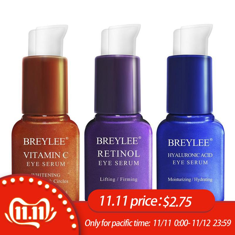 BREYLEE Eye Serum Retinol Hyaluronic Acid Vitamin C Care Cream Skin Anti-puffness Dark Circles Moisturizing