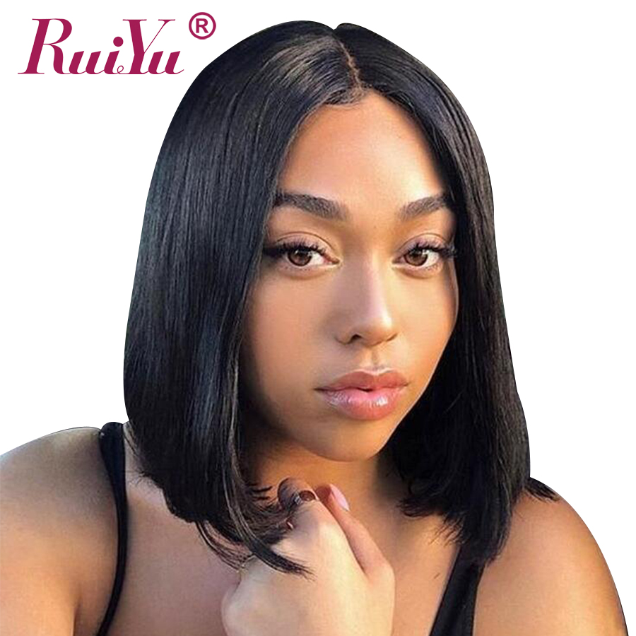 Malaysian Straight Bob Lace Front Wigs Pre Plucked 13x6 Bob Wig Lace Front Human Hair Wigs For Black Women RUIYU Remy Hair