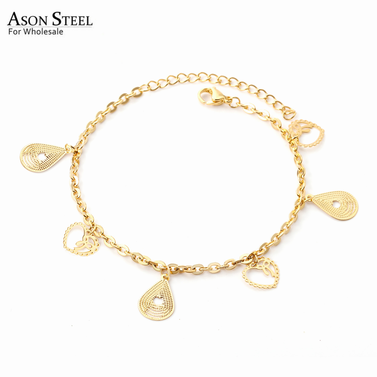 ASONSTEEL 316L Stainless Steel Barefoot Chain Vintage Gold Color Anklet for Women Gift Barefoot Chain Accessories Jewelry