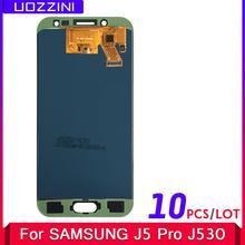 10 sztuk partia 5 2 #8221 calowy LCD Galaxy J530 2017 dla Samsung J5 2017 wyświetlacz ekran dotykowy Digitizer J5 Pro J530 J530F regulowany LCD tanie tanio uozzini Pojemnościowy ekran J5 Pro 2017 J530F SM-J530F LCD i ekran dotykowy Digitizer 1920x1080 3 Black Blue Gold