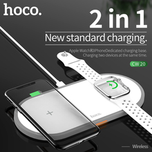 HOCO 2 в 1 Оригинальное Беспроводное зарядное устройство для Apple Watch серии 5 4 3 2 магнитное зарядное устройство для i Watch USB кабель зарядное устройство для iphone 11
