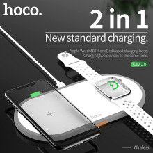 HOCO 2in1 Original Wireless Charger for Apple Watch Charger Series 5 4 3 2 Magnetic for i-Watch USB Cable Charger for iphone 11