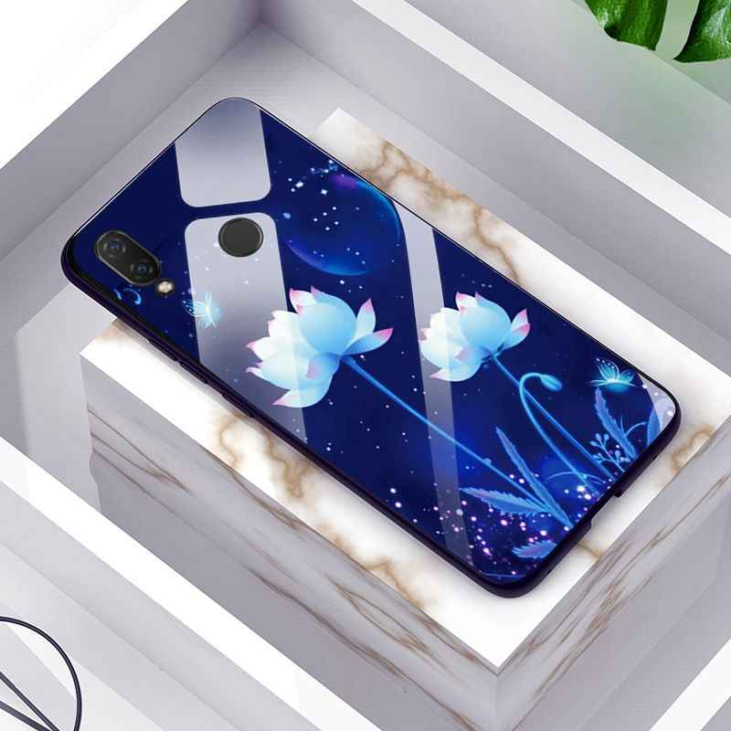 強化ガラス Huawei 社 PSmart 2019 P20 Lite カバー光沢のあるガラス電話ケース Huawei 社の名誉再生 8C 8X ノヴァ 3 3i 10 Lite
