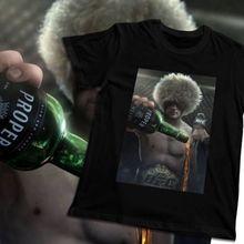 Organnic Cotton For Man Khabib Nurmagomedov Epic UFC Conor Mcgregor Proper Whiskey Homme Tee Shirt Crazy Summer Male shirt