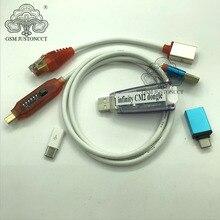 ORIGINAL NEUE Unendlichkeit Box Dongle Unendlichkeit CM2 Dongle + umf alle in 1 boot kabel für GSM und CDMA handys