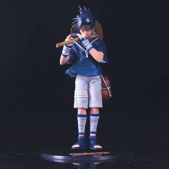 "10.24"" Anime NARUTO Uchiha Sasuke Flute Piping Uzumaki Naruto's Partner GK Box Action Figure Collectible Model Toy 26cm Z36 2"