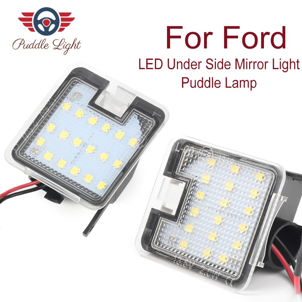 2x LED Under Side Mirror Puddle Light For Ford C-max Focus Kuga Escape Mondeo IV S-Max LED Courtesy Light Super Bright