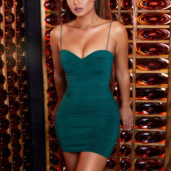 Coylsmo Summer Mini Party Dress Women Sleeveless Spaghetti Strap Backless Sexy Dress Bodycon Outfits Club Clothes Vestidos chic spaghetti strap backless bodycon solid color dress for women