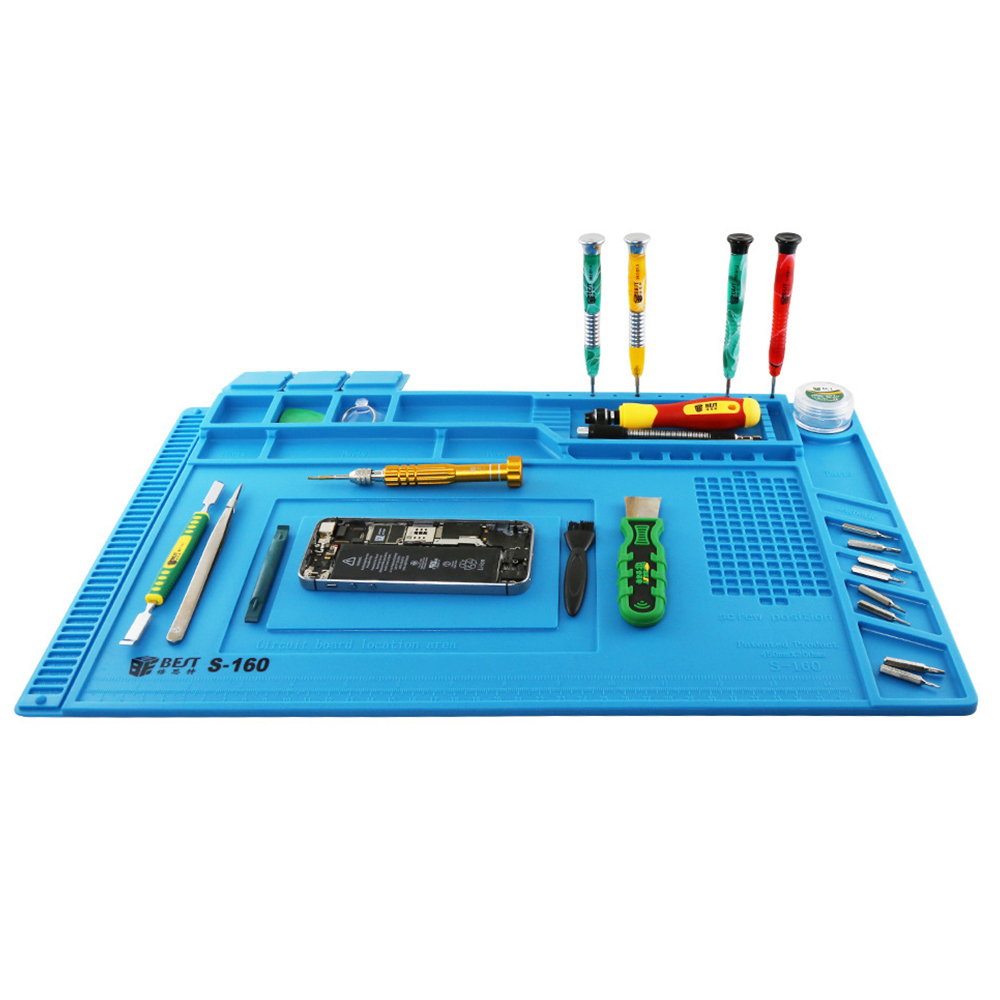 ESD Heat Insulation Working Mat Soldering Station Iron Phone Computer Repair Mat Heat-resistant Platform Magnetic Cushion