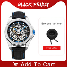 2020 New Seagull Watch Men Automatic Mechanical Hollow Perspective Mechanical Watch Large Dial  Waterproof Personality Watch