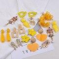 Ztech Sommer Gelb Quaste Stein Kristall Blume Erklärung Ohrringe Für Frauen Handmade Baumeln Ohrringe Hochzeit Schmuck
