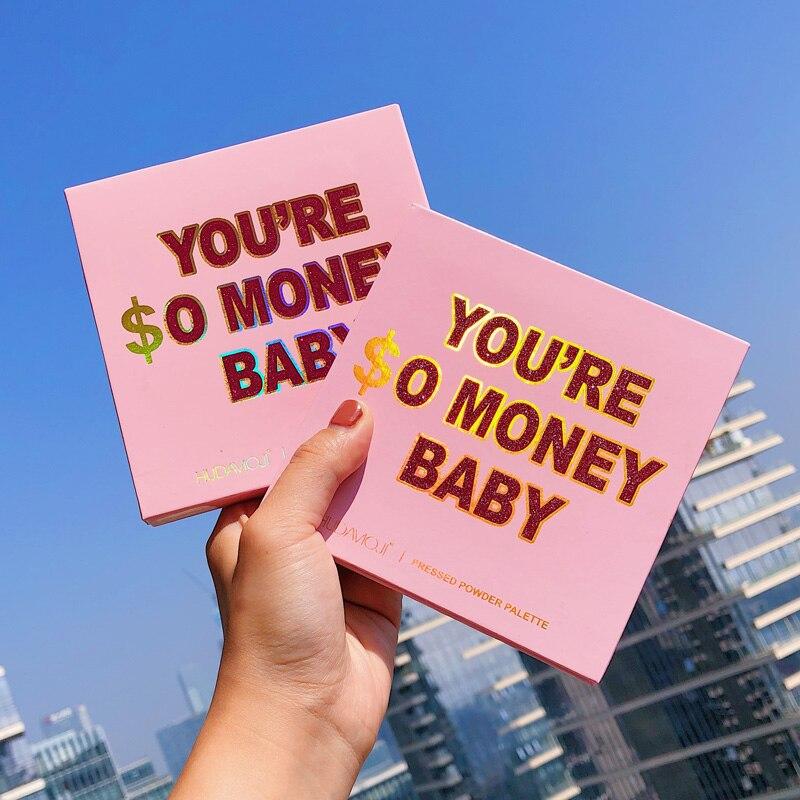 You're So Money Baby Pressed Powder Palette Matte Glitter Eyeshadow Pallete Siny Eye Shadow Palette Nude Colors Eye Pigment