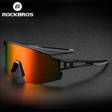 ROCKBROS polaryzacyjne fotochromowe okulary rowerowe okulary rowerowe sportowy rower górski okulary przeciwsłoneczne na rower gogle okulary oprawki do okularów korekcyjnych tanie tanio CN (pochodzenie) Jazda na rowerze About 170mm About 55mm Unisex Z tworzywa sztucznego Polarized Photochromatic Black TR-90