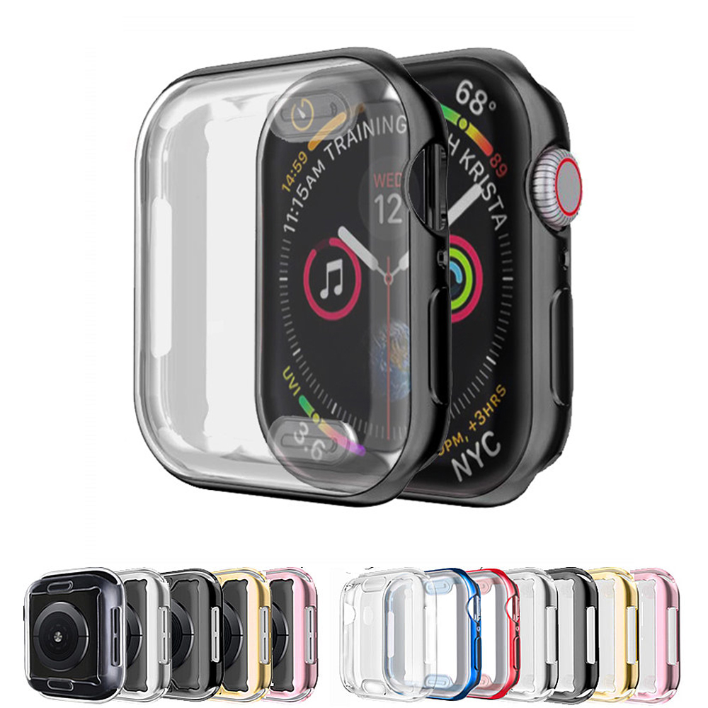 <font><b>Watch</b></font> Cover case For <font><b>Apple</b></font> <font><b>Watch</b></font> series 5 4 <font><b>3</b></font> 44mm 40mm <font><b>42mm</b></font> 38mm HD Screen Protector bumper iwatch <font><b>apple</b></font> <font><b>watch</b></font> case not glass image
