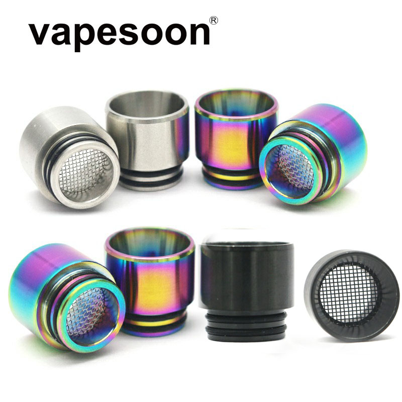 Authentic VapeSoon 810 Stainless Steel Drip Tip Anti-fried Oil Drip Tip For IJUST 3  TFV12 Prince Etc SS Rainbow Color