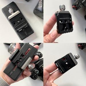 Image 3 - חצובה כדור ראש הר מתאם שחרור מהיר קליפ צלחת מהדק Arca שוויצרי SLR DSLR מצלמה Ballhead חצובה Baseplate מתאם