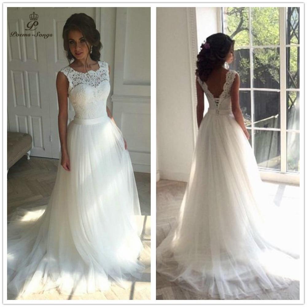 2019 New Applique Wedding Dress Formal Robe Mariage Vestidos De Novia Bridal Dress Vestido De Festa Beach Wedding Dresses