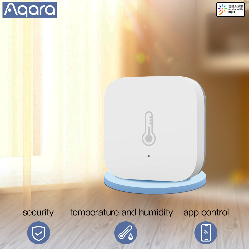 Aqara Smart Temperature Sensor Wifi Thermostat Air Pressure Temperature Humidity Zigbee Sensor App Smart Home Sensor