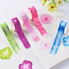 1Roll/200PCS Masking Tape Adorable Petals Decal Flower Scrapbook Sticker DIY Universal