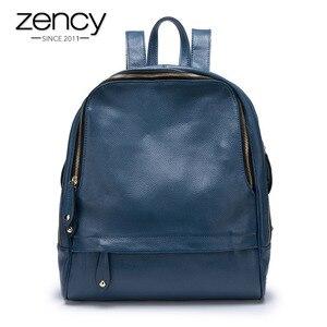 Image 1 - Mochila De piel auténtica para mujer, nueva oferta de bolsos de viaje femeninos, mochilas escolares prácticas para niñas, Notebook de gran capacidad, 100%