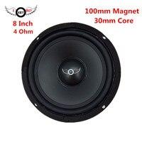 I KEY ซื้อ 8 นิ้ว 100 มม.แม่เหล็ก 400 วัตต์ลำโพง 4 OHM 30 มม.HIFI Midrange เสียงดังขึ้นลำโพงวูฟเฟอร์ บน