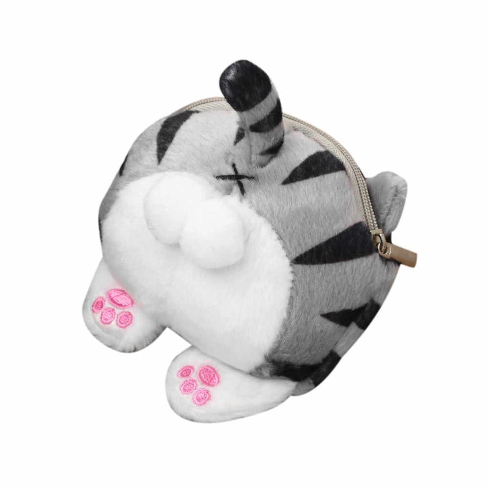 OCARDIAN женский кошелек, плюшевый короткий кошелек, многофункциональная сумка, милый кот, ягодичный хвост, плюшевый Кошелек для монет, кошелек, сумка, Прямая поставка