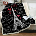 Постельные принадлежности Outlet Париж башня плед на кровать романтические буквы шерпа Флисовое одеяло сердце плюшевый диван плед 1 шт