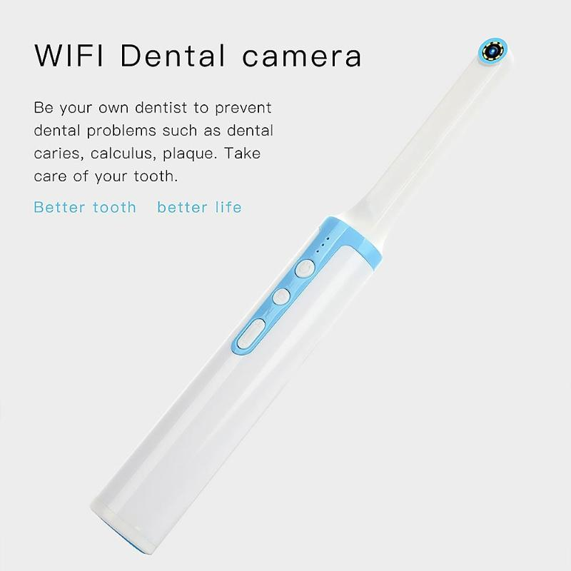 P10 WiFi Dental Camera HD Intraoral Endoscope LED Light USB Cable Inspection for Dentist Oral Care Toothbrush Tool