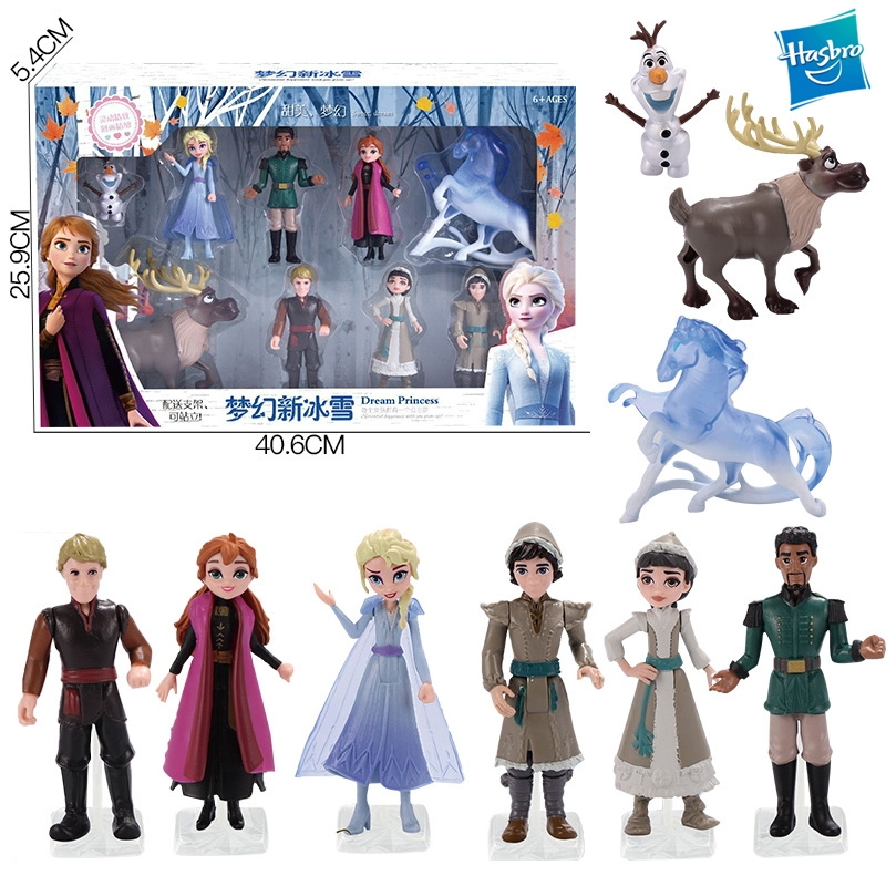 Hasbro Frozen 2 Action Figure Gift Set Elsa Anna Olaf Model Doll Ornament Kids Toys Gift