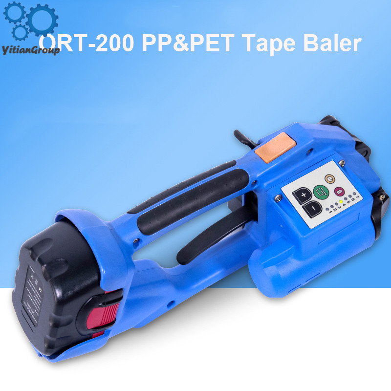 Strapping Machine ORT-200 Battery Powered Electric Pet Strap Packing Tool Electric Plastic Strapping Tool