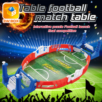 3WBOX Mini Table Football Board Parent-child Interactive Home Match Desktop Shoot Game Indoor Educational Children's Toy plastic toy baby birthday gift desktop funny game tabletop shoot football fossball family parent child interactive educational