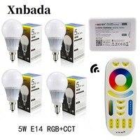 Mi Licht 5W Led Lampe RGB + CCT E14 Led-lampe + RGBWW Remote + IBX2 RF Fernbedienung Wifi led-strahler licht Led licht AC85-265V Freies verschiffen