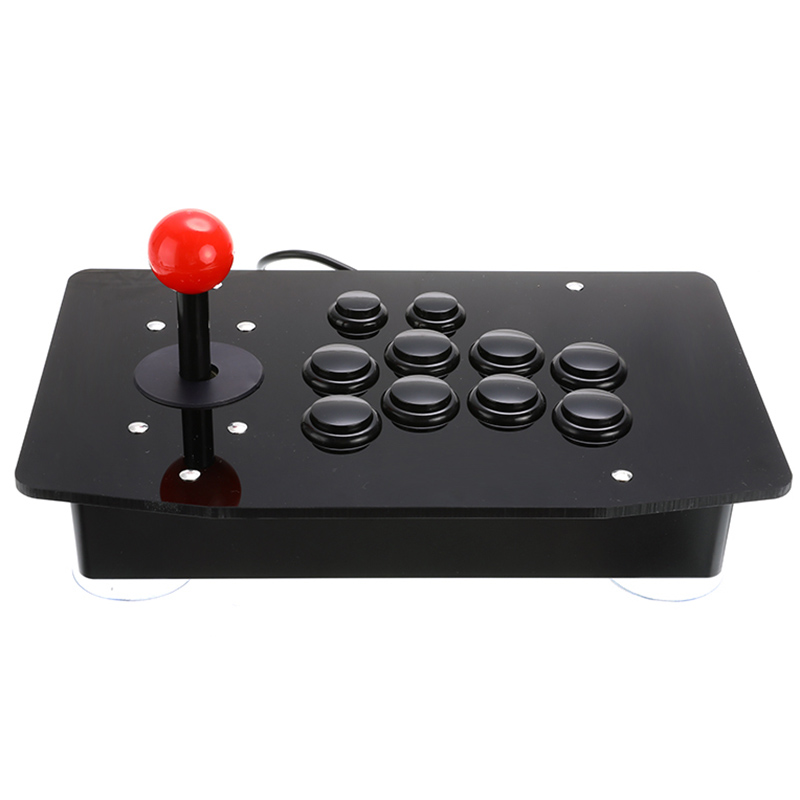 AAAE Top-Acrylic Wired Usb Arcade Joystick Fighting Stick Gaming Controller Gamepad Video Game for Pc image
