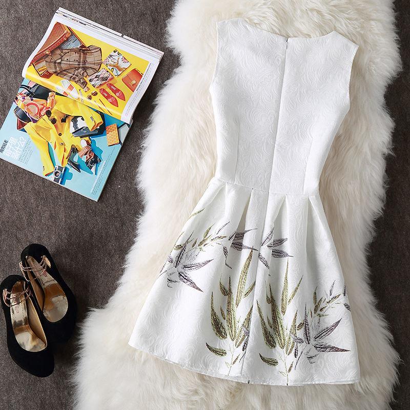 Vintage Print Women Dresses 2