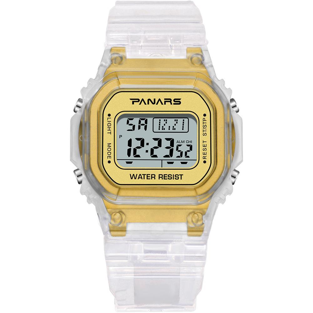 755.59руб. 50% СКИДКА|Мужские и женские цифровые спортивные часы panar, водонепроницаемые Прозрачные наручные часы, 2019|Цифровые часы| |  - AliExpress