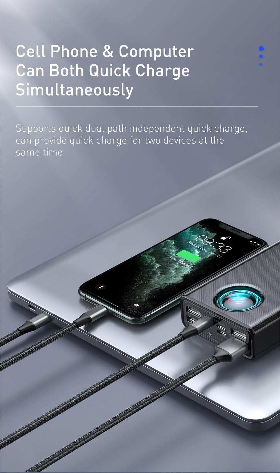 Baseus Amblight 65W Quick Charge Power Bank 30000mAh 11