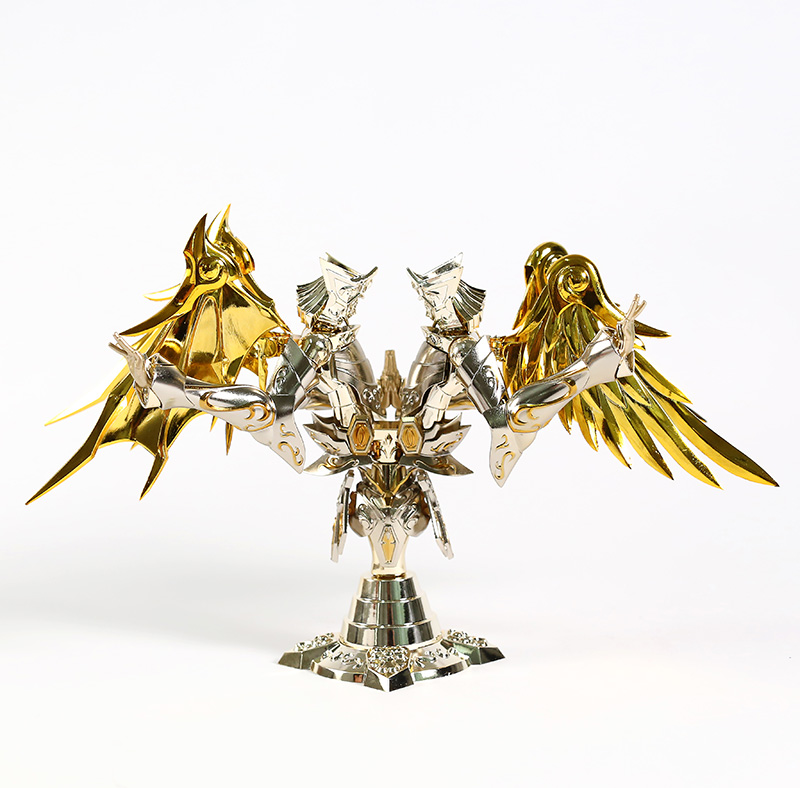 Nouveau GT grands jouets âme de dieu or EX Gemini SaGa armure en métal avec cintre en tissu mythe dieu Action figurine jouet - 4